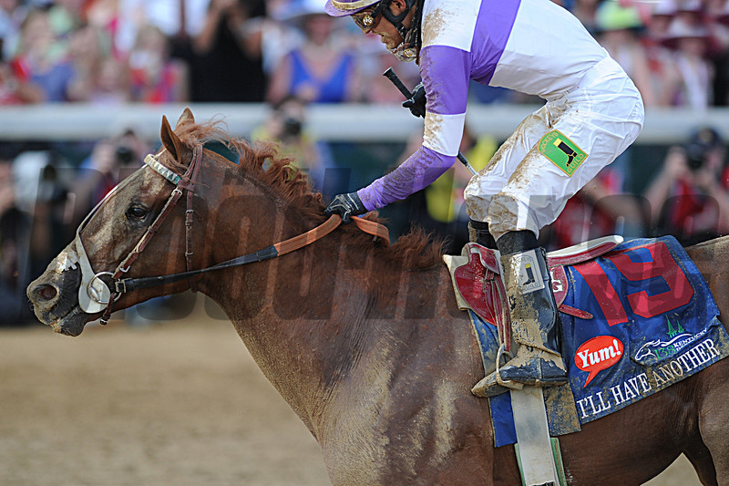 I'll Have Another, Mario Gutierrez up, wins the Kentucky Derby<br /> Churchill Downs, Louisville, KY, Kentucky Derby 2012 5/5/12 <br /> Photo by Mathea Kelley