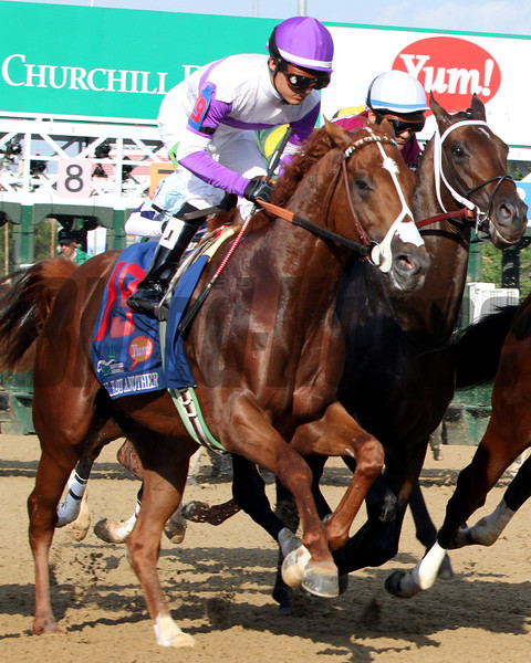 I'll Have Another w/Mario Gutierrez up get away from the gate in good order and go on to win the 138th Running of The Kentucky Derby at Churchill Downs on May 5, 2012.<br /> Photo by Chad Harmon.