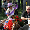 Mario Gutierrez in the winner's circle.<br /> Photo by Crawford Ifland.