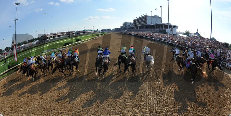 Out of the starting gate for Kentucky Derby 138<br /> Photo by Courtney V. Bearse.