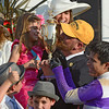 Trainer Doug O'Neill kisses the winner's trophy after his trainee I'll Have Another won  the 138th running of the Kentucky Derby in Louisville, KY May 5, 2012  <br /> Photo by: Skip Dickstein