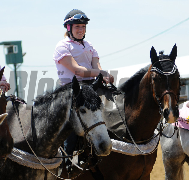 Pink Day Outriders; , Pimlico Race Track, Baltimore, MD 5/19/12, Photo by Mathea Kelley