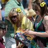 Racing patrons on Preakness Day at Pimlico Race Course in Baltimore, MD May 19, 2012.  Photo by Skip Dickstein