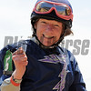 """Jennifer Rowland Smith, wins the """"Lady Legends For The Cure 3"""" aboard Class Rules at Pimlico...<br /> © 2012 Rick Samuels/The Blood-Horse"""