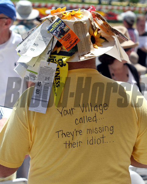 A Preakness hat and shirt at Pimlico Racecourse on May 19, 2012.