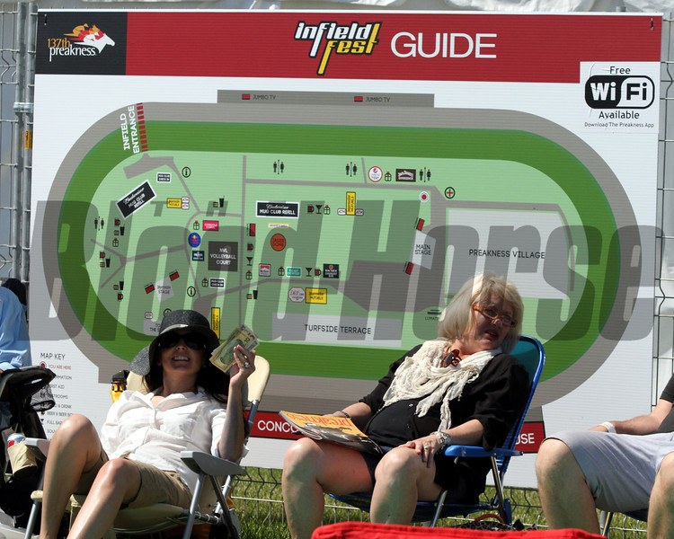 The infieldfest Guide at Pimlico Racecourse on May 19, 2012.