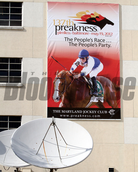 A scene at Pimlico Racecourse on May 18, 2012.