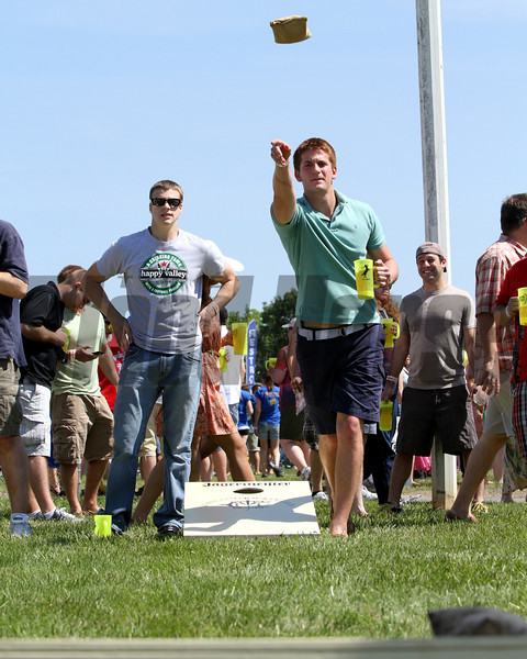 Cornhole in the infield at Pimlico Racecourse on May 19, 2012.