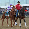 I'll Have Another and jockey Mario Gutierrez in the Preakness Post-Parade<br /> © 2012 Rick Samuels/The Blood-Horse