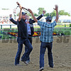 "Members of ""Team O'Neill"" celebrate I'll Have Anothers Preakness victory...<br /> © 2012 Rick Samuels/The Blood-Horse"