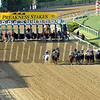 The field for the 137th Running of the Preakness just after the start at Pimlico Racecourse on May 19, 2012.<br /> Photo by Chad Harmon.