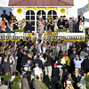 A crowded winner's circle after I'll Have Another won the 137th Running of the Preakness at Pimlico Racecourse on May 19, 2012.<br /> Photo by Chad Harmon.