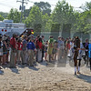 Kentucky Derby winner I'll have Another, being led to the paddock for the Preakness Stakes...<br /> © 2012 Rick Samuels/The Blood-Horse