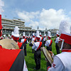 U of L Band on the infield of Churchill Downs on Derby Day May 5, 2012.  Photo by Skip Dickstein.