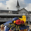 Derby hats in front of the Churchill Downs Spires.<br /> Photo by Courtney V. Bearse.
