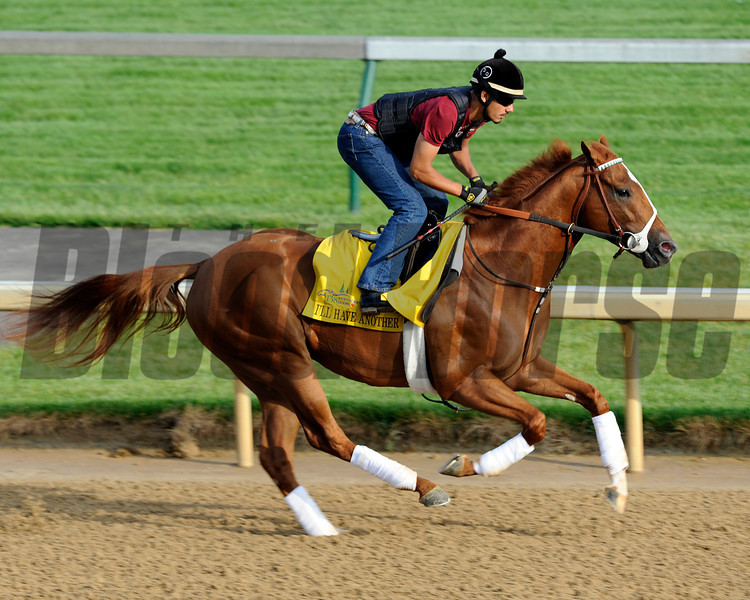 I'll Have Another<br /> Kentucky Derby and Kentucky Oaks contenders on the track at Churchill Downs near Louisville, Ky. on April 30, 2012.<br /> Photo by Anne M. Eberhardt