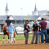 Alpha, Spires<br /> Churchill Downs, Louisville, KY, Kentucky Derby 2012 5/3/12 <br /> Photo by Mathea Kelley
