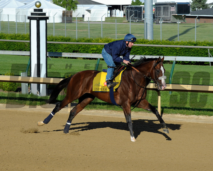 Caption:  Union Rags with Peter Brette for trainer Michael Matz<br /> Kentucky Derby and Kentucky Oaks contenders on the track at Churchill Downs near Louisville, Ky. on April 27, 2012.<br /> AMWorks4_27_12 image594<br /> PHoto by Anne M. Eberhardt