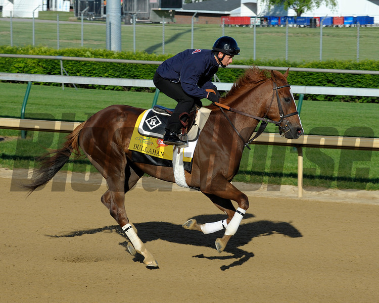 Caption:  Dullahan for trainer Dale Romans<br /> Kentucky Derby and Kentucky Oaks contenders on the track at Churchill Downs near Louisville, Ky. on April 27, 2012.<br /> AMWorks4_27_12 image575<br /> PHoto by Anne M. Eberhardt