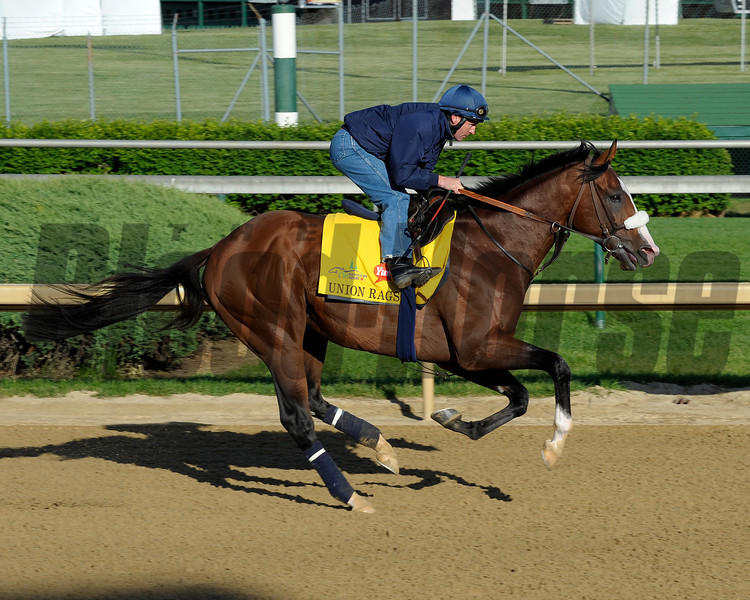 Caption:  Union Rags with Peter Brette for trainer Michael Matz<br /> Kentucky Derby and Kentucky Oaks contenders on the track at Churchill Downs near Louisville, Ky. on April 27, 2012.<br /> AMWorks4_27_12 image598<br /> PHoto by Anne M. Eberhardt