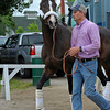 Broadway's Alibi arrives for the Oaks<br /> Kentucky Derby and Kentucky Oaks contenders on the track at Churchill Downs near Louisville, Ky. on May 1, 2012.<br /> Photo by Anne M. Eberhardt