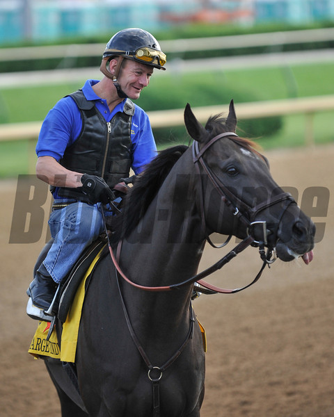Calvin Borel and Take Charge Indy.<br /> Photo by Mallory Haigh