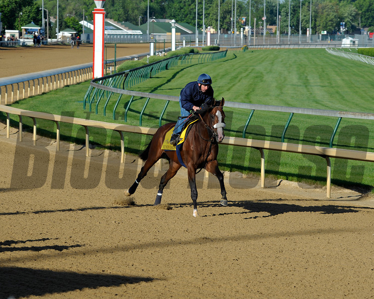 Caption:  Union Rags with Peter Brette for trainer Michael Matz<br /> Kentucky Derby and Kentucky Oaks contenders on the track at Churchill Downs near Louisville, Ky. on April 27, 2012.<br /> AMWorks4_27_12 image590<br /> PHoto by Anne M. Eberhardt