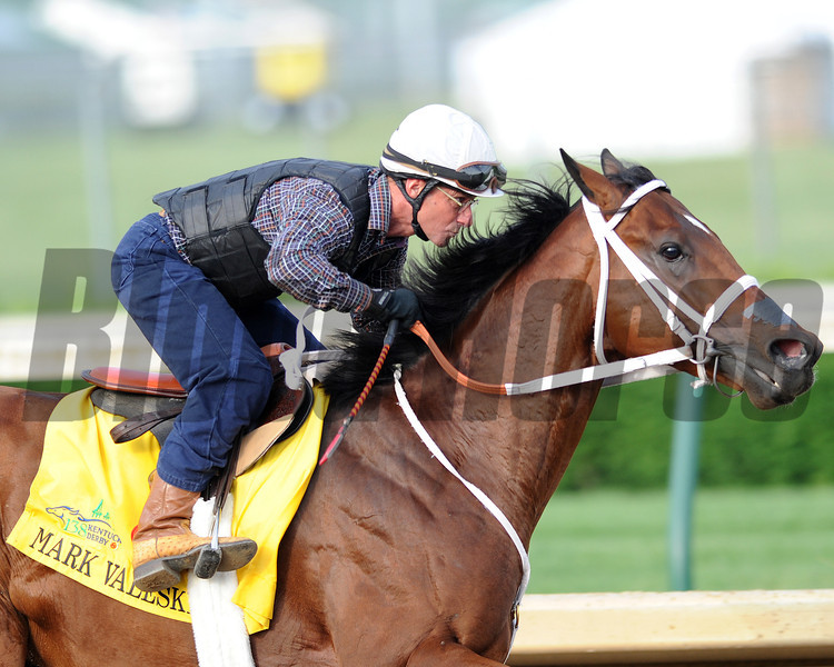 Mark Valeski works<br /> Churchill Downs, Louisville, KY , Kentucky Derby 2012 4/30/12, <br /> Photo by Mathea Kelley