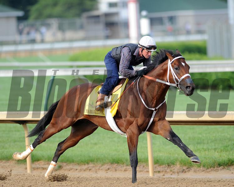 Mark Valeski works<br /> Churchill Downs, Louisville, KY  Kentucky Derby 2012 4/30/12<br /> Photo by Mathea Kelley