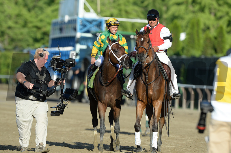 Palace Malice wins the 2013 Belmont Stakes.<br /> Coglianese Photos/Joe Labozzetta