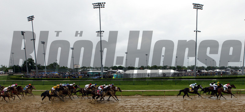Kentucky Derby Turning For Home