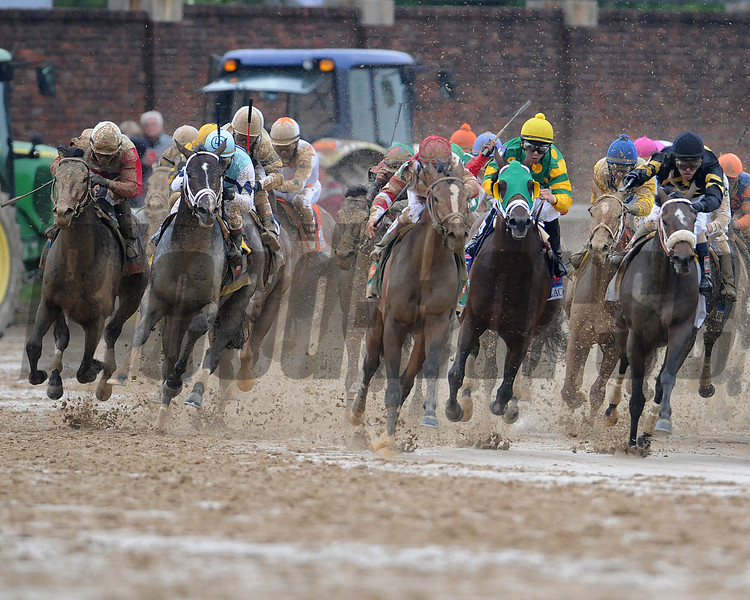 Orb, Joel Rosario up, wins the Kentucky Derby 2013 Churchill Downs, Louisville, KY photo by Mathea Kelley Final Turn
