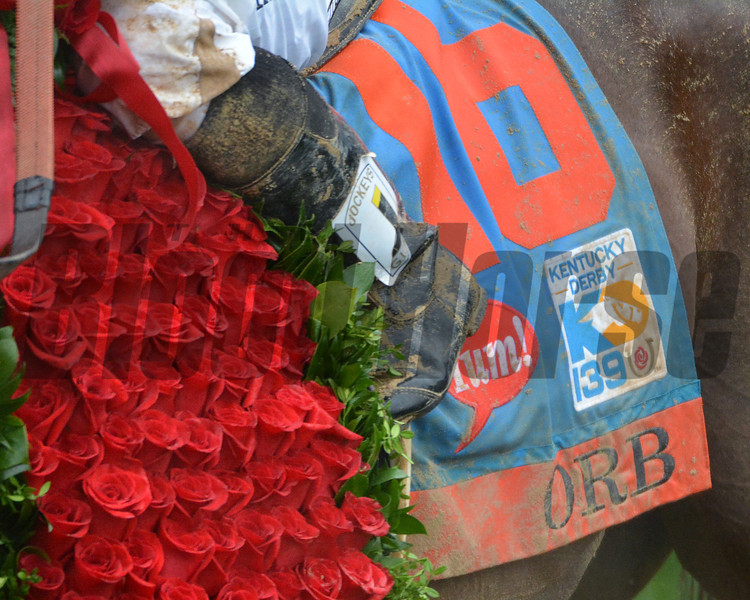 Orb wins the 139th Kentucky Derby.<br /> Courtney V. Bearse Photo