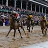 Orb takes the 139th edition of the Kentucky Derby with jockey Joel Rosario in the irons and it gave trainer Shug McGaughey his first win in the classic May 4, 2013 at Churchill Downs in Louisville, Kentucky.
