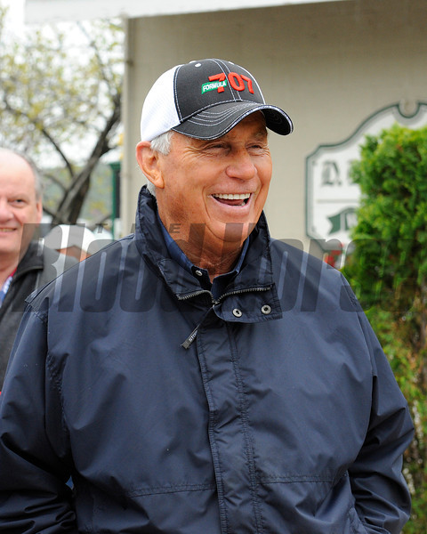 Caption: trainer D. Wayne Lukas<br /> works and scenes at Churchill Downs near Louisville, Ky. on April 29, 2013, during Kentucky Derby and Kentucky Oaks week.<br /> 2Works4_29_13 image688<br /> Photo by Anne M. Eberhardt