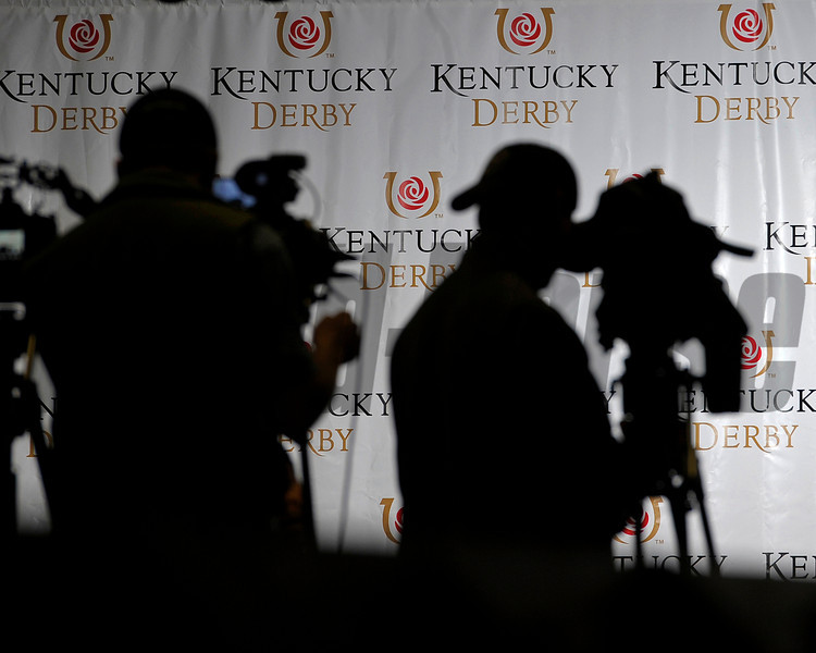 Caption: tv and video coverage<br /> works and scenes at Churchill Downs near Louisville, Ky. on April 27, 2013, during Kentucky Derby and Kentucky Oaks week.<br /> 2Works4_27_13 image442<br /> Photo by Anne M. Eberhardt