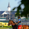 Caption:  scene of the spires from the backstretch<br /> works and scenes at Churchill Downs near Louisville, Ky. on April 30, 2013, during Kentucky Derby and Kentucky Oaks week.<br /> 2Works4_30_13 image102<br /> Photo by Anne M. Eberhardt
