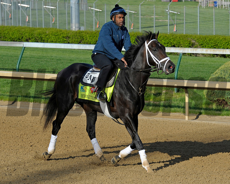 Caption: Revolutionary<br /> works and scenes at Churchill Downs near Louisville, Ky. on April 26, 2013, during Kentucky Derby and Kentucky Oaks week.<br /> 1Works4_26_13 image896<br /> Photo by Anne M. Eberhardt