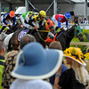 Caption: race scene on Preakness day<br /> Preakness week 2013 with Preakness horses and other going to the track at Pimlico on May 17, 2013, in Baltimore, Md.<br /> PREAKNESS Scenes2  image038<br /> Photo by Anne M. Eberhardt