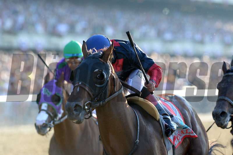 Tonalist wins the 2014 Belmont Stakes.<br /> Coglianese Photos/Adam Mooshian