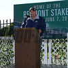 Alan Sherman, California Chrome<br /> Belmont Park, May 31, 2014<br /> Coglianese Photos/Chelsea Durand