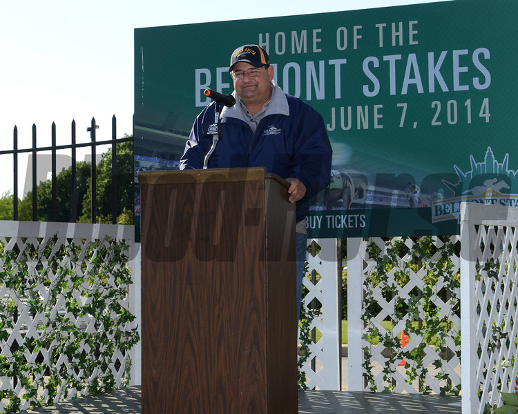 Alan Sherman, California Chrome<br /> Belmont Park, May 31, 2014<br /> Coglianese Photos/Chelsea Durand