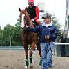 California Chrome at Belmont Park, May 28, 2014<br /> Coglianese Photo/Lauren King