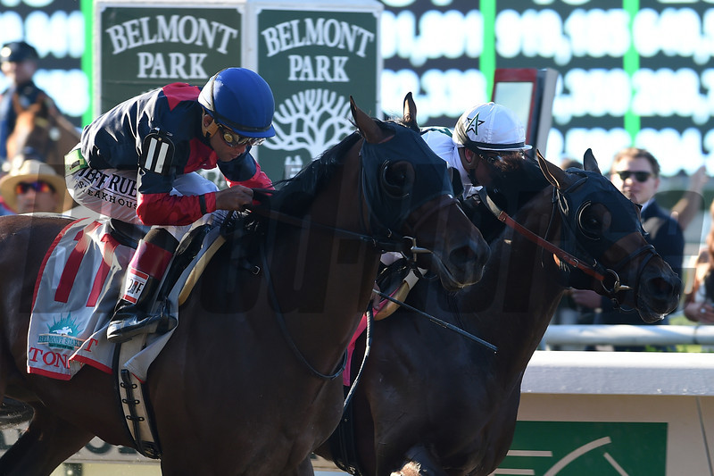 Tonalist wins the 2014 Belmont Stakes.<br /> Coglianese Photos/Dave Alcosser