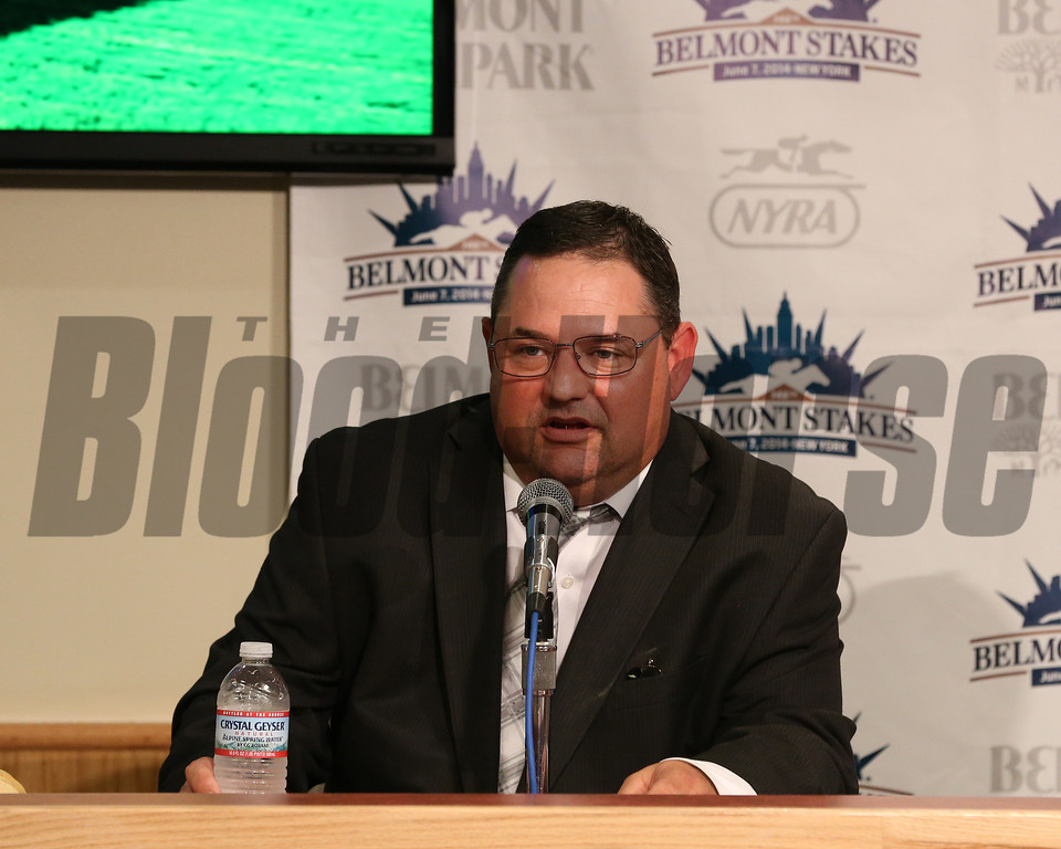 Caption: trainer Alan Sherman<br /> Belmont Stakes (gr. I) on June 7, 2014, at Belmont Park in Elmont, N.Y.<br /> 11-Belmont3 image159<br /> Photo by Ashton Harrewyn