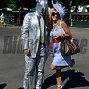 Caption: Racing fashion<br /> Belmont Stakes day on June 7, 2014, at Belmont Park in Elmont, N.Y.<br /> BelmontAM1 image881<br /> Photo by Anne M. Eberhardt
