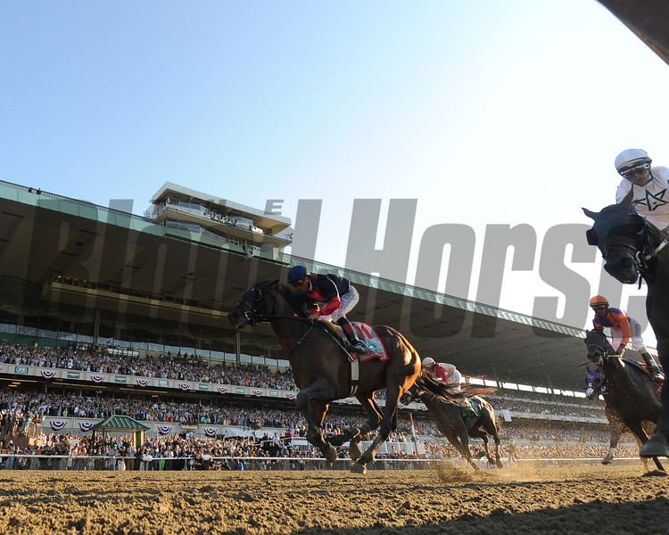 Tonalist wins the 2014 Belmont Stakes.<br /> Coglianese Photos