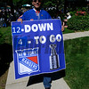 Caption: Hockey and Racing fan!  New York Rangers in Stanley Cup hockey championship.<br /> Belmont Stakes day on June 7, 2014, at Belmont Park in Elmont, N.Y.<br /> BelmontAM1 image901<br /> Photo by Anne M. Eberhardt