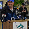 Caption: Alan Sherman at daily news conference<br /> Belmont and undercard works on June 5, 2014, at Belmont Park in Elmont, N.Y.<br /> Thurs1Origs2 image067<br /> Photo by Anne M. Eberhardt