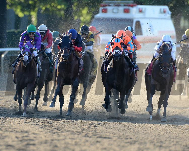 Tonalist wins the 2014 Belmont Stakes.<br /> Coglianese Photos/Joe Labozzetta